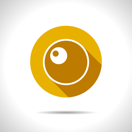 Vector flat egg icon on color circle