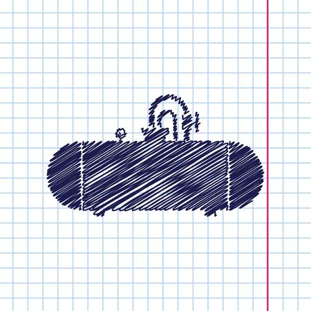aljibe: Vector dibujado a mano icono de la cisterna en cuaderno