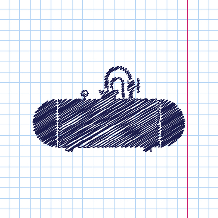 cistern: Vector hand drawn cistern icon on copybook Vectores