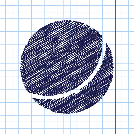 inflar: Vector hand drawn ball icon on copybook
