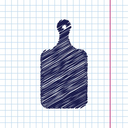 cook out: Vector hand drawn kitchen board icon on copybook