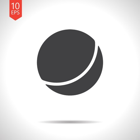 bounce: Vector flat black ball icon on white background
