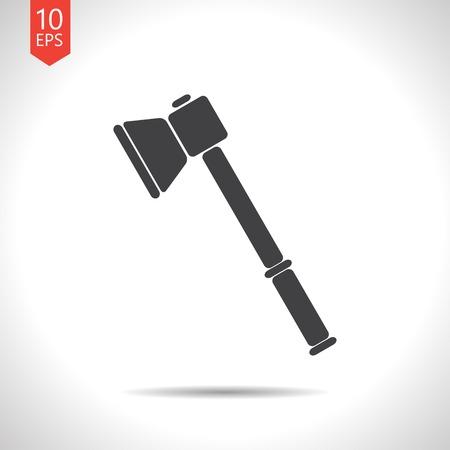 smoke alarm: Vector flat black axe icon on white background Illustration