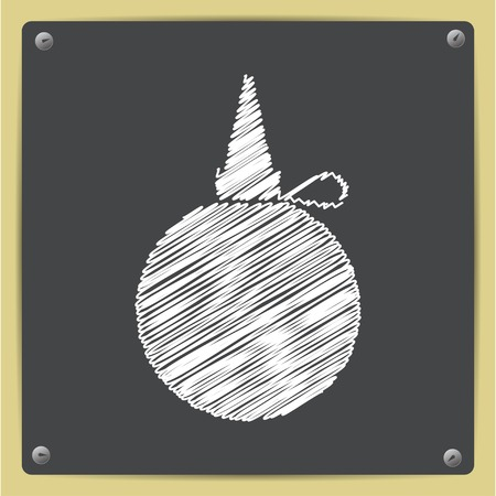 petrochemistry: Vector chalk drawn in sketch style tailor oiler icon on school blackboard Vectores