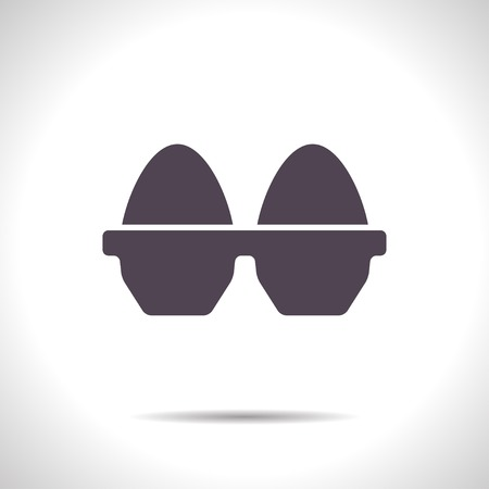 flat color egg icon  on white background