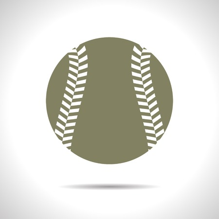 fast pitch: flat color baseball icon  on white background