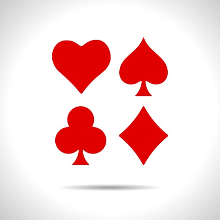 black jack: flat color game casino cards suit icon  on white background