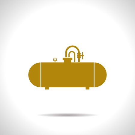 cistern: flat color cistern icon  on white background Illustration