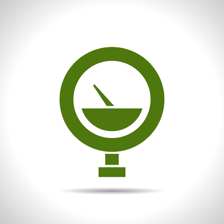 manometer: flat color manometer icon  on white background