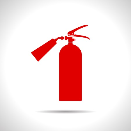 firealarm: flat color fire extinguisher icon  on white background Illustration