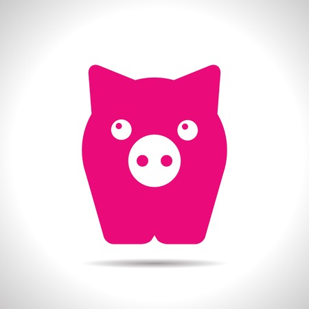 oink: flat color pig icon  on white background