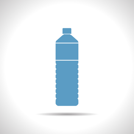 purify: flat color water bottle  on white background