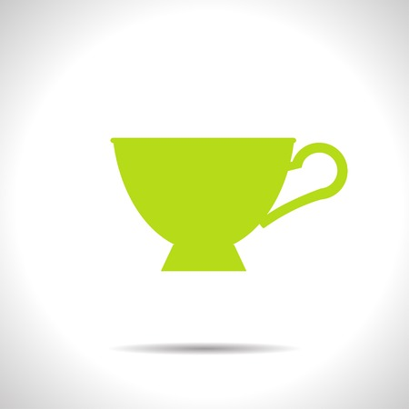 dine: flat color cup for tea or coffee icon  on white background