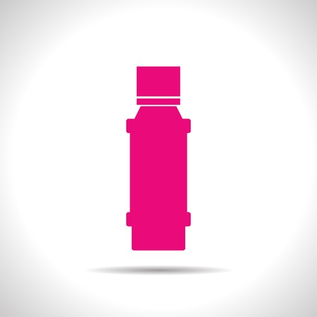 flavoring: flat color flavoring bottle  on white background . Kitchen icon Illustration