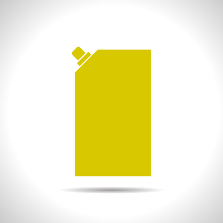 mayonnaise: flat color mayonnaise plastic package icon  on white background Illustration