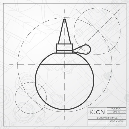 oiler: classic blueprint of tailor oiler icon on engineer and architect background