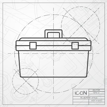 herramientas de construccion: Vector cl�sico modelo de icono de conjunto de herramientas de ingeniero y arquitecto fondo. Equipo industrial