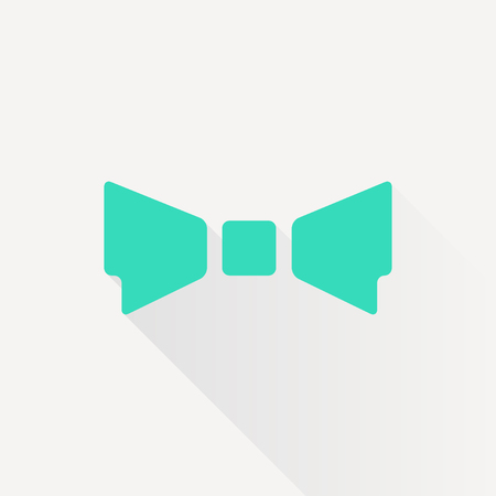 bowtie: Vector green bow-tie icon on white background