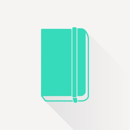 periodicals: Vector green book icon on white background