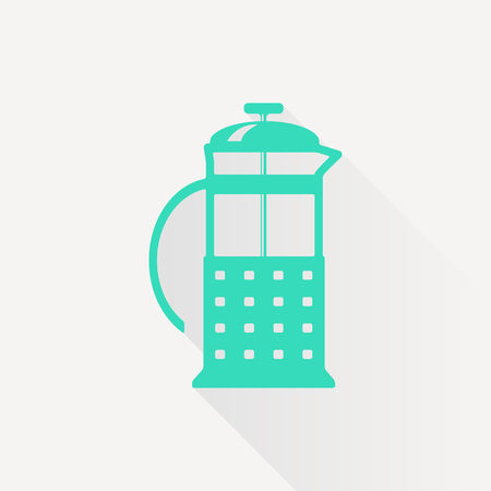 masher: Vector green franch press icon on white background