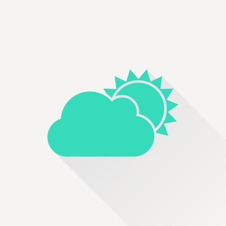 cloudiness: Vector green cloudiness icon on white background