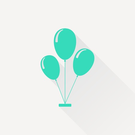 green balloons: Vector green balloons icon on white background
