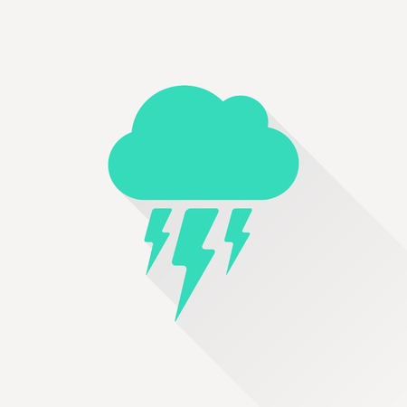 atmospheric: Vector gold cloud flash icon isolated on dark. Epsgreen0 Illustration