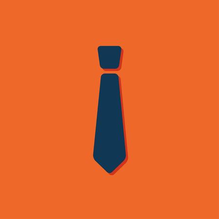 dresscode: Vector blue tie icon on orange background