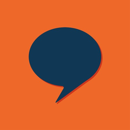callout: Vector blue callout icon on orange background