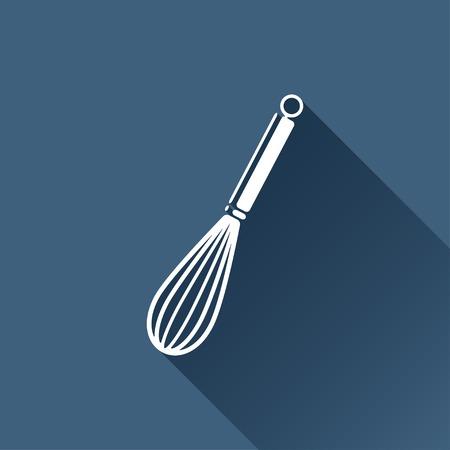 corolla: Vector white corolla icon on dark background Illustration