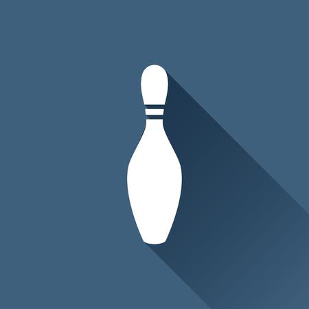 sports shell: Vector white skittle icon on dark background