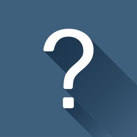 signo pregunta: Vector icono de signo de interrogación blanco sobre fondo oscuro