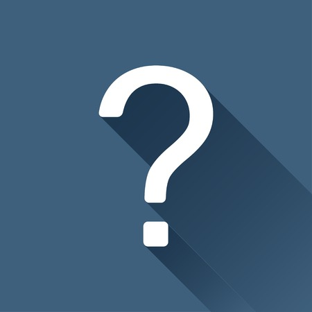a question mark: Vector white question mark icon on dark background