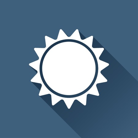 sol: Vector white sun icon on dark background