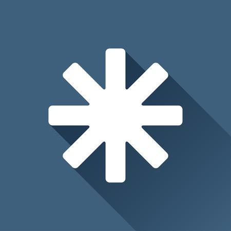 star background: Vector white star icon on dark background