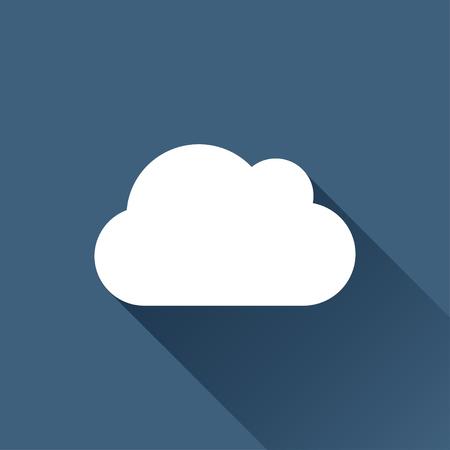 sincronizacion: Vector white cloud icon on dark background