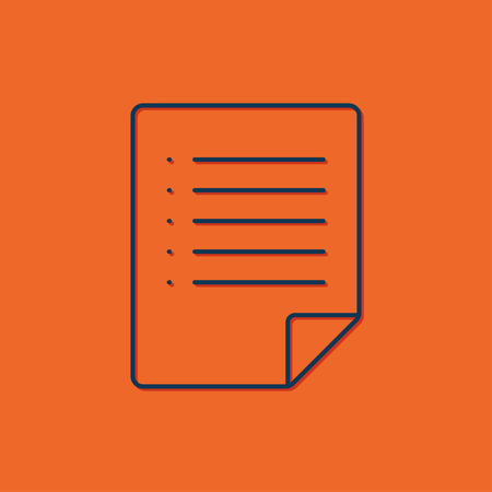 indexes: Vector blue arrow icon on orange background