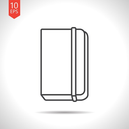 periodicals: Vector gray book icon on white background