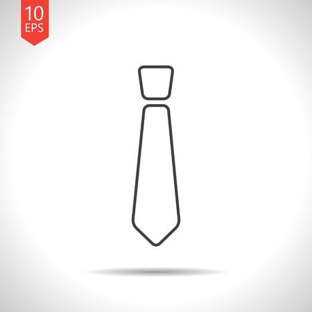 taylor: Vector gray tie icon on white background Illustration