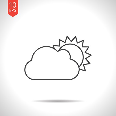 cloudiness: Vector gray cloudiness icon on white background
