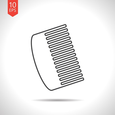 personal grooming: Vector gray hairbrush icon on white background Illustration