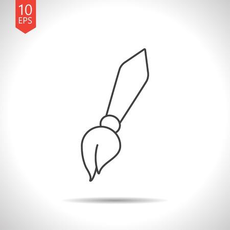 eraser mark: Vector gray pencil icon on white background Illustration