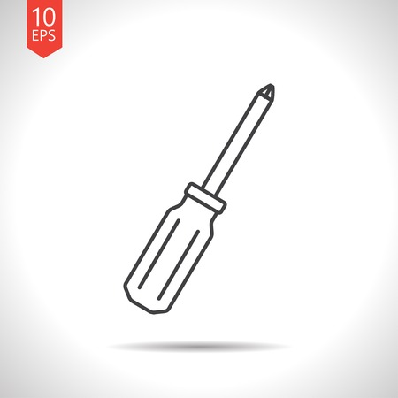 phillips: Vector gray phillips screwdriver icon on white background Illustration