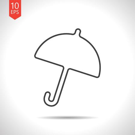 resistant: Vector gray umbrella icon on white background