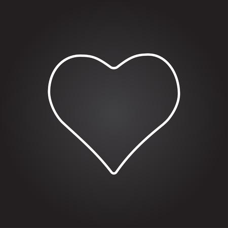 gamblers: Vector white game heart icon on dark background