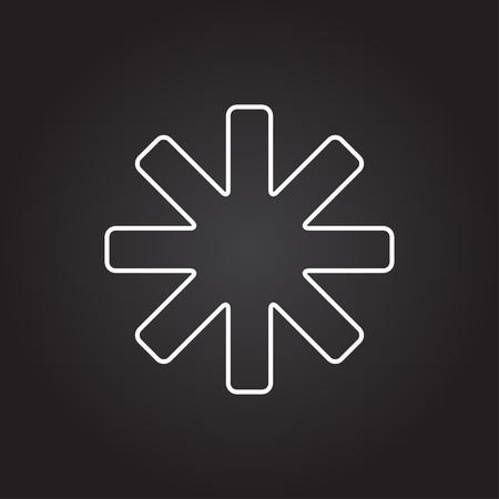 ecologist: Vector white star icon on dark background