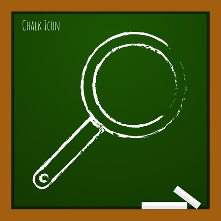 steam cooker: Vector chalk drawn doodle pan icon on school board
