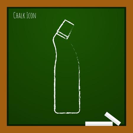 disinfectant: Vector chalk drawn doodle cleaner bottle for bathroom, kitchen, toilet on school board