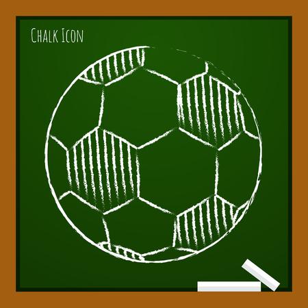nfl football: Vector chalk drawn doodle football icon on school board Illustration