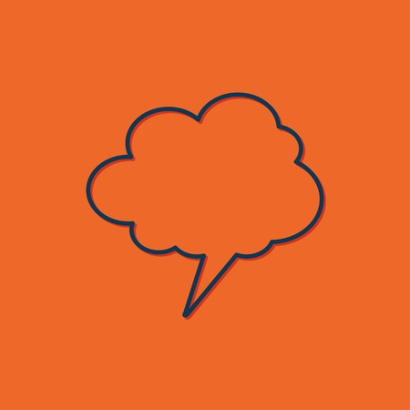 callout: blue callout icon on orange background